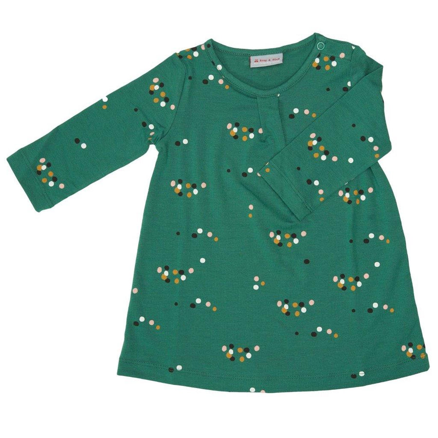 Vestido Rosana Dots Green Tencel