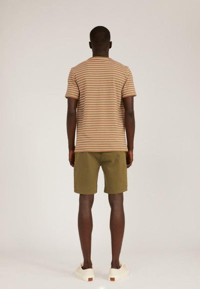Camiseta JAAGO STRIPES olive-sorbet-white