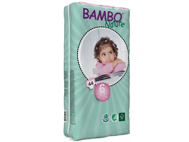 Pañales Bambo XL Plus Talla 6 (15-30Kg), 44uds