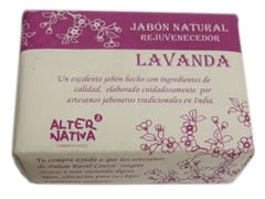 Jabón natural Lavanda 100 rg. India