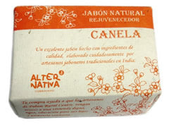 Jabón natural Canela 100 gr. India