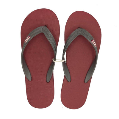 Chanclas KIEV granate-gris