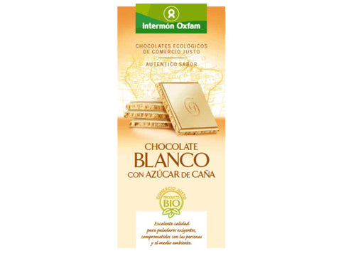 Tableta chocolate Blanco con Azúcar de caña bio