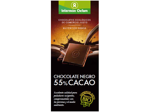 Tableta chocolate Negro 55% bio
