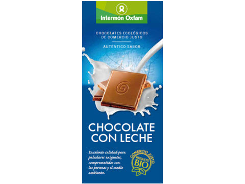 Tableta chocolate Leche bio
