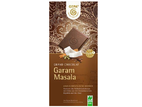 Tableta Chocolate Leche Garam Masala bio