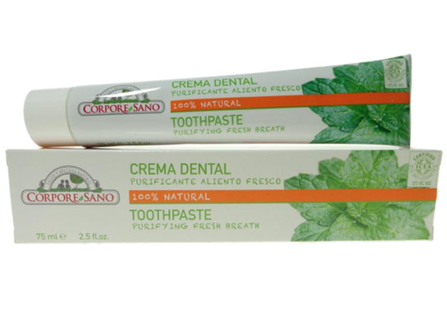 Crema dental bio Purificante Aliento Fresco, 75 ml