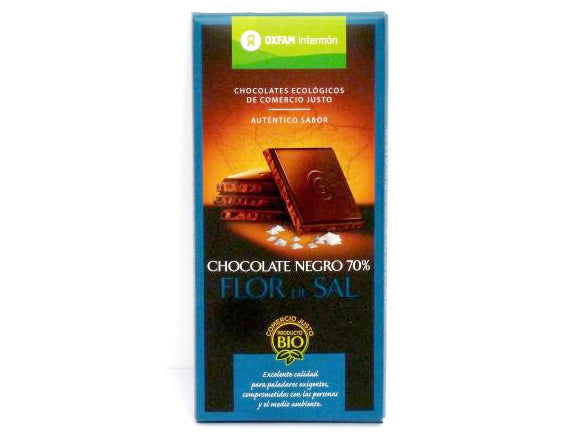 Tableta Chocolate Negro 70% Flor de sal bio