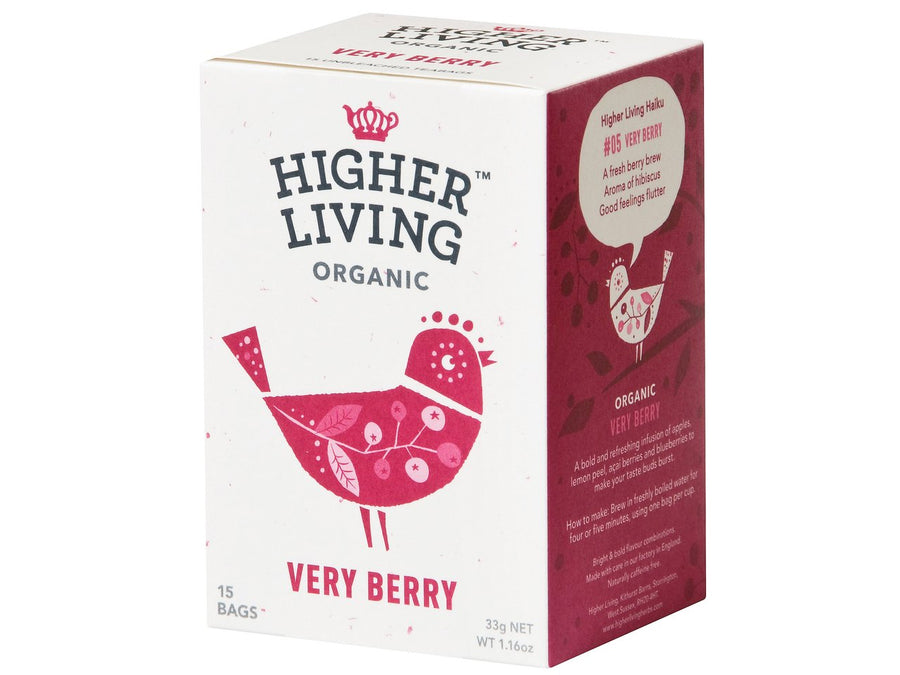 Infusión very berry Bio Higher Living 15 bolsas