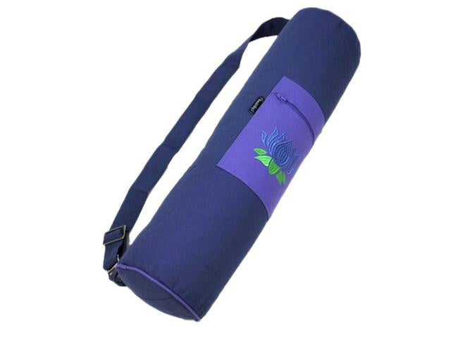 Funda Yoga-Flowers Loto Petrol