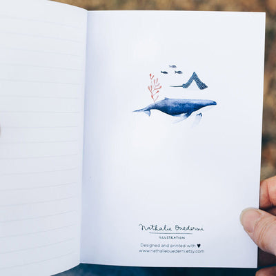 Notebook A6 WHALES 80p