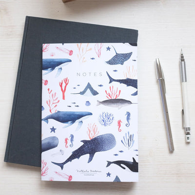 Notebook A5 WHALES 80p