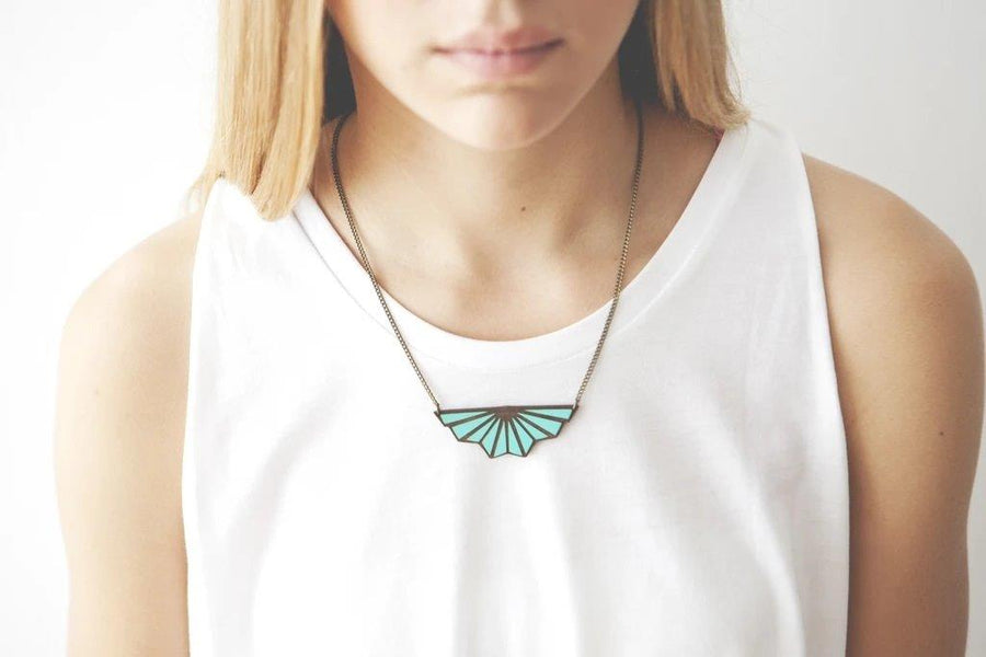 Collar Toile de Fond Teal