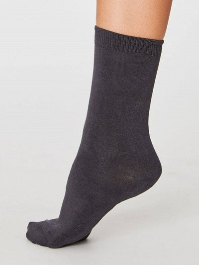 Calcetines Solid Jackie Charcoal 37-41