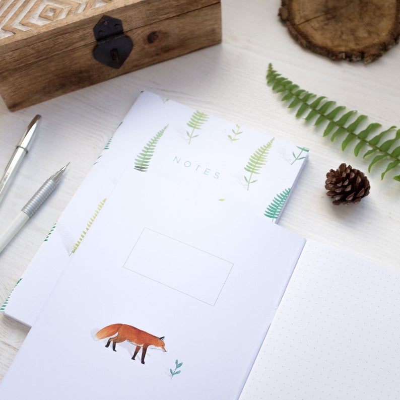 Notebook A5 Fox & Ferns 80p