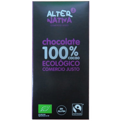 Chocolate 100% cacao 80 gr.