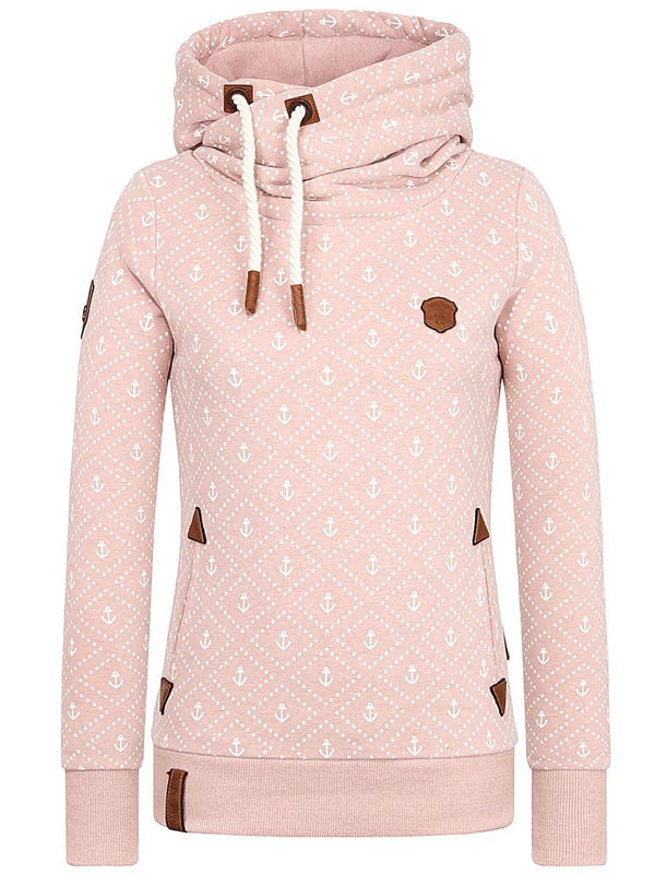 Cotton-Blend Long Sleeve Casual Cool-Hoodies