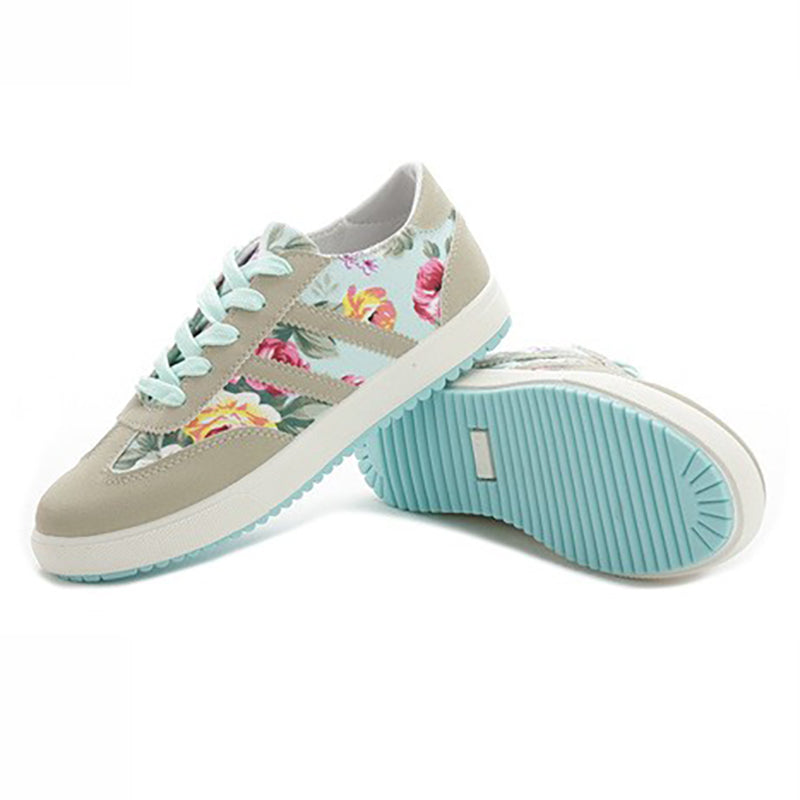 Women Flower Sneakers Casual Sport Plus Size Shoes
