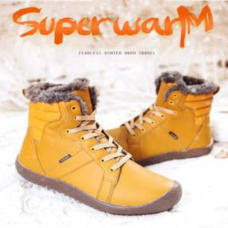 New Cotton Warm Large Size Comfortable Antiskid Shoes Couple Snow Boots