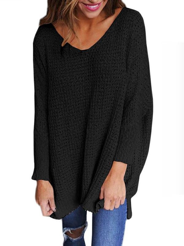 Casual Knitted V-Neck Sweater