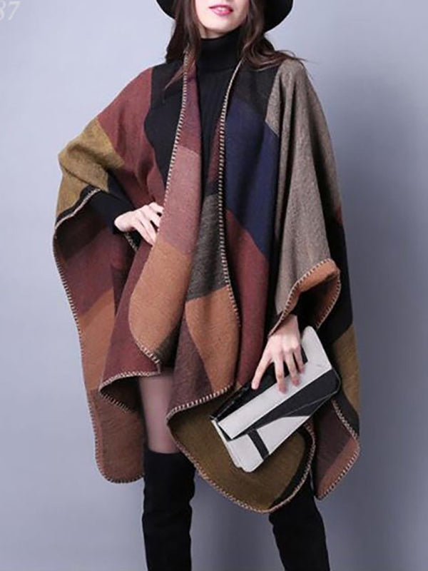 Fashion Womens Oversized Sweater Cape Cardigan Poncho wrap Coat Jacket Outwear