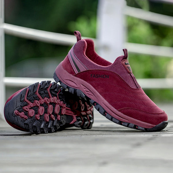 Women Athletic Flocking Slip On Sneakers Casual Shoes