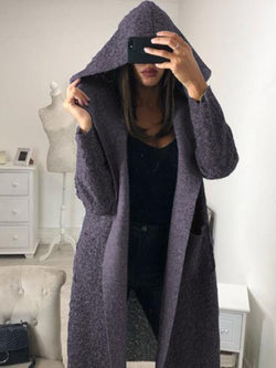 Casual Stitching Hooded Loose Coat
