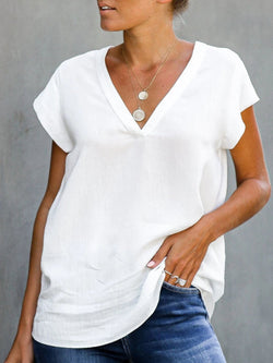 Solid Cotton Casual Shirts & Tops