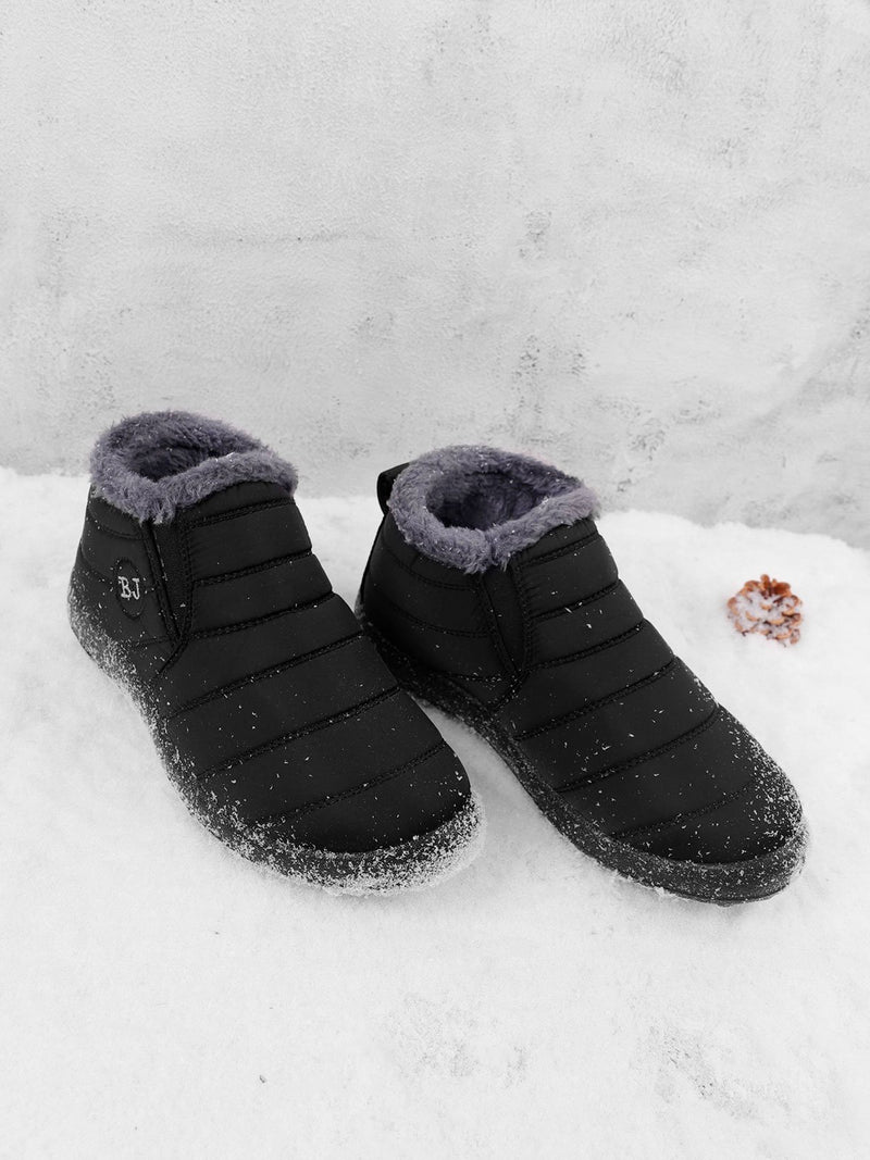 Mostata Women's snow boots Warm Fur Ankle Slip-On Boots