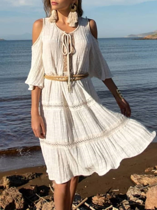 Bohemian holiday strapless dress
