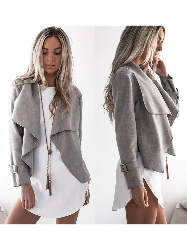Women Jackets Cardigan Casual Basic Jacket