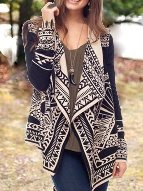 Knitted Shift Tribal Cardigan