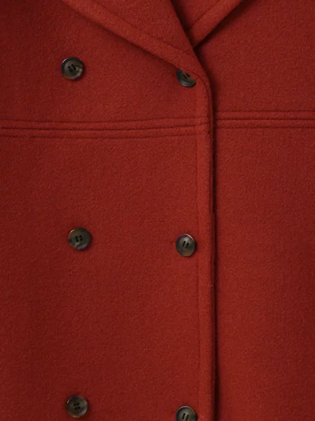 Classic Solid Color Double Buttoned Coat