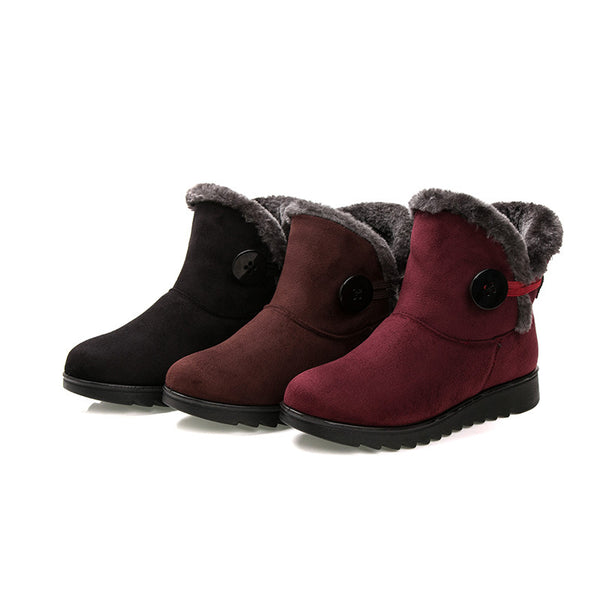 New cotton shoes Suede Casual Low Heel warm snow boots