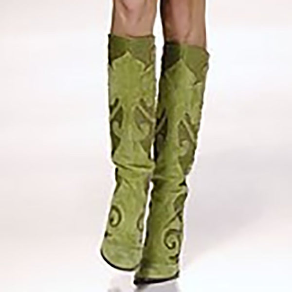Pointed Thick With Side Zipper Over The Knee Boots Shoes
