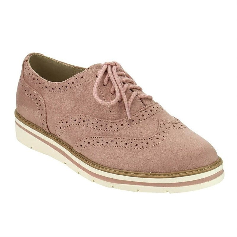 Mostata Women Lace Up Perforated Oxfords Shoes