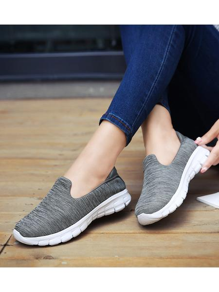 Large Size Women Casual Solid Color Breathable Sneaker