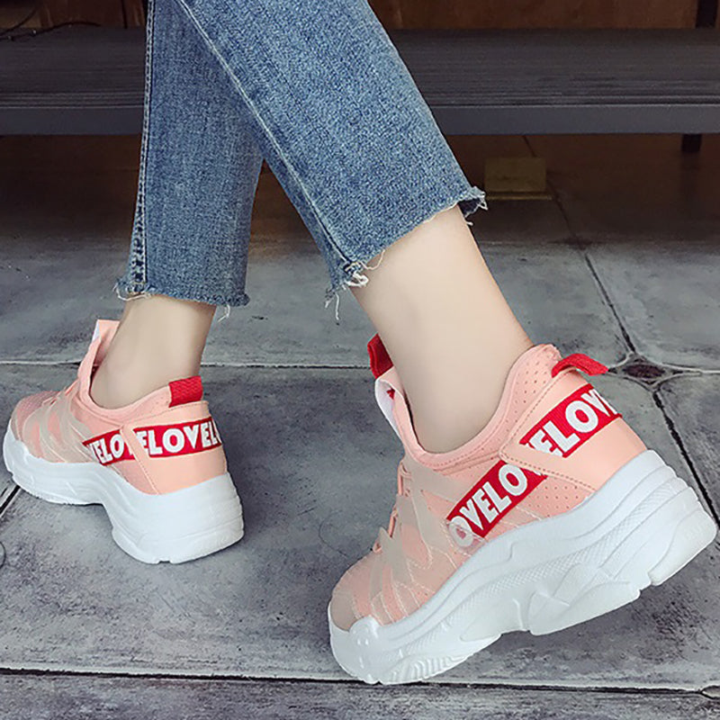 Women Breathable Sneakers Casual Comfort Slip On Shoes