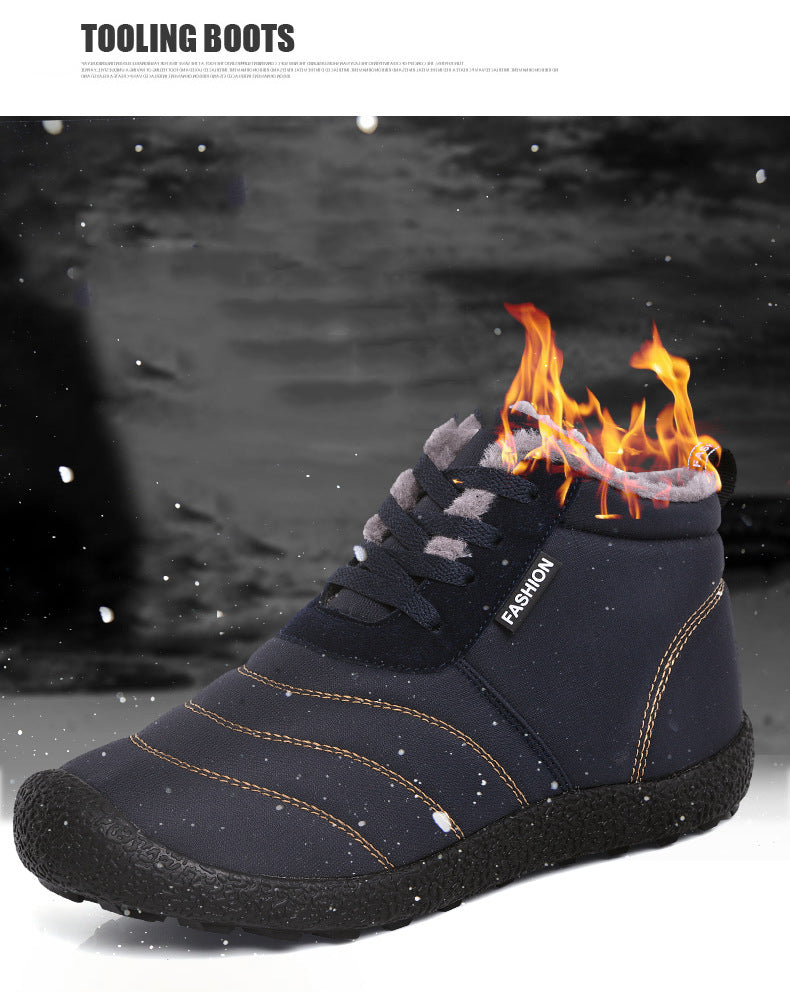 Mostata Winter Lace-up Waterproof Warm Large Size Men & Women Snow Boots