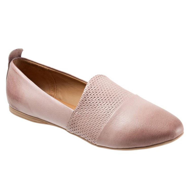Women's Elegant Super Soft Leather Slip On Perforated Detail Loafers