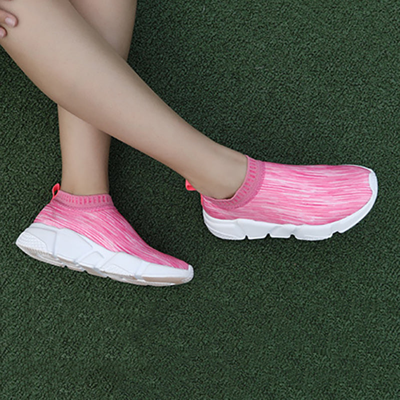 Women Elastic Sneakers Casual Comfort Slip On Plus Size Shoes