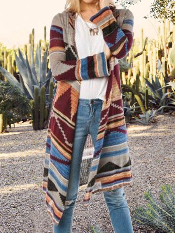 Multicolor Tribal Knitted Cardigan