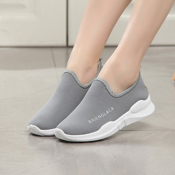 Women Casual Slip-On Breathable Mesh Sneakers