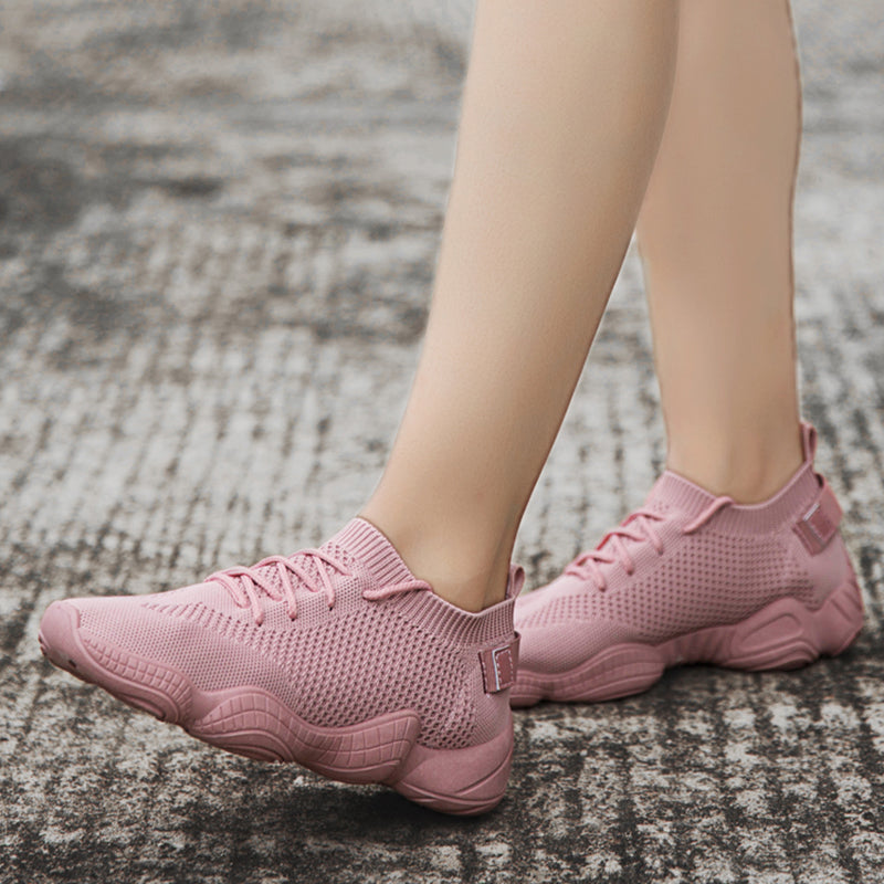 Women Knit Fabric Sneakers Casual Comfort Slip On Fashion Shoes