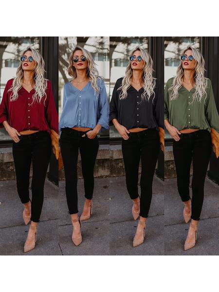 Large Size Casual cotton Long Sleeve Shirt