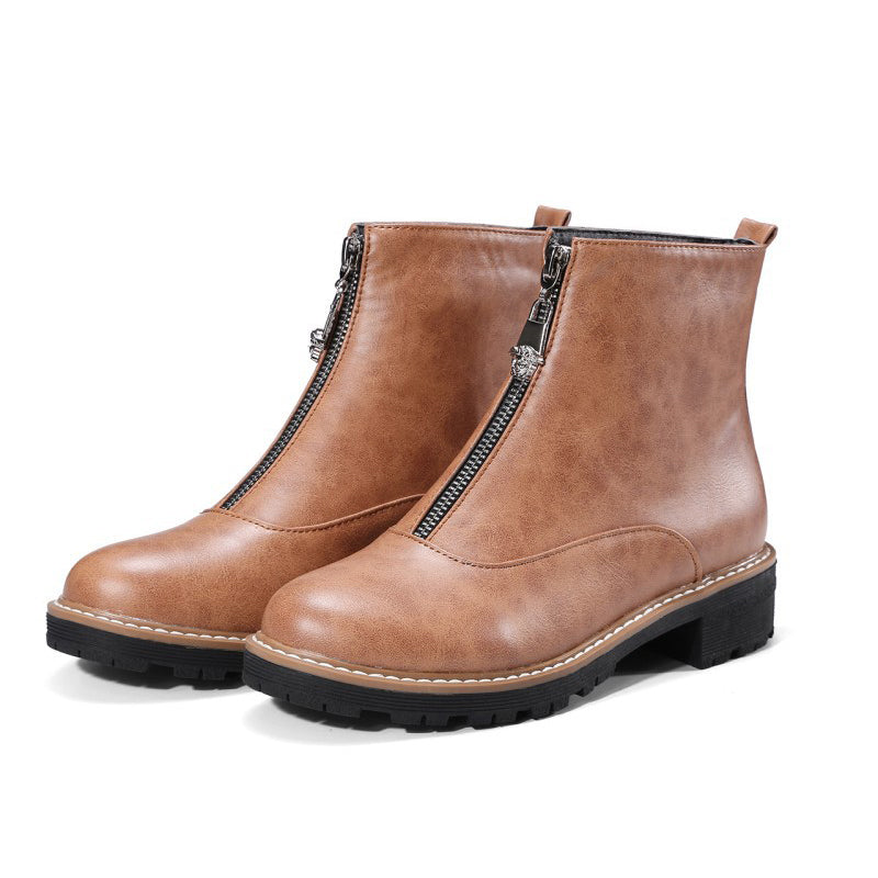 Women Casual Artificial Leather Boot Shoes
