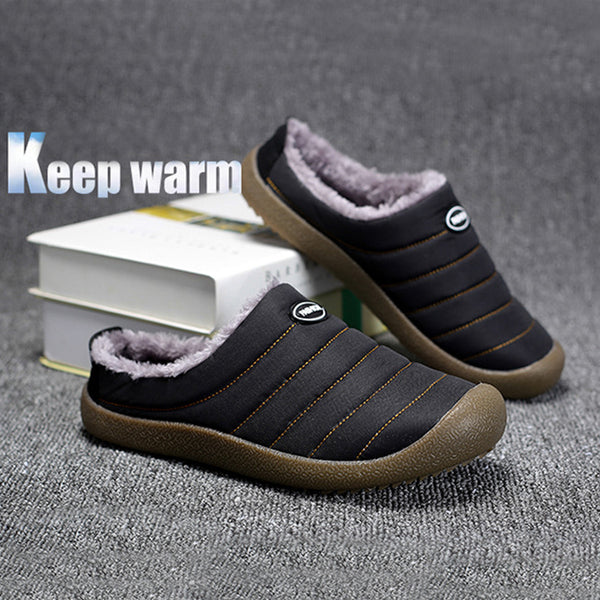 Large Size Unisex Flat Heel Waterproof Comfort Warm Slip-On Short Boots