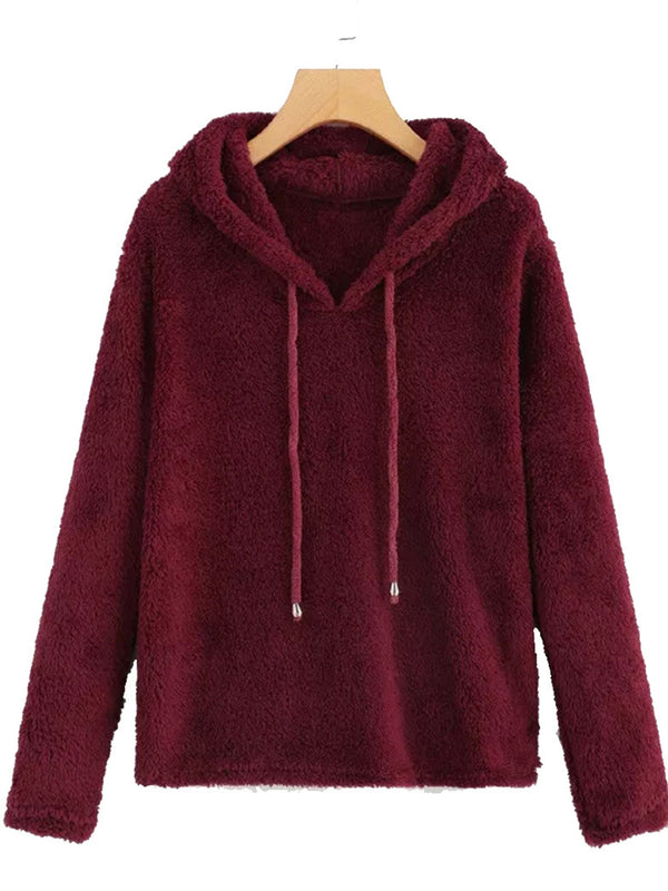Casual Cotton Hoodie Tops