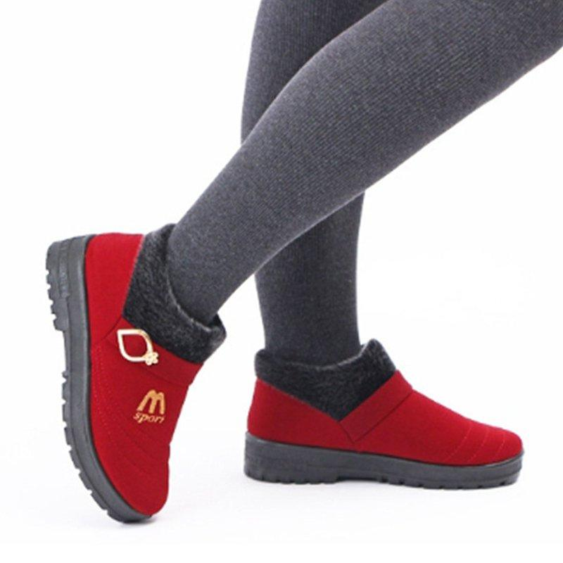 Daily Cloth Warm Button Boot