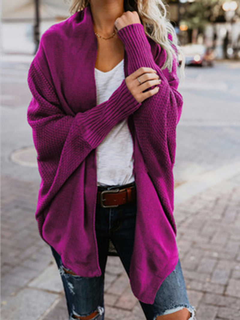 Casual Knitted Solid Sweater Cardigan